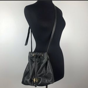 Vintage Anne Klein leather bucket crossbody
